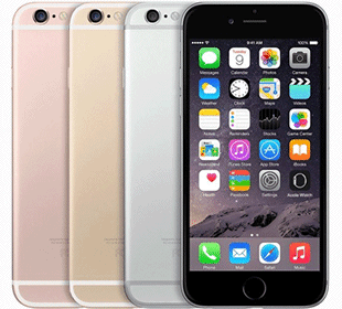 Apple iPhone 6s quatre couleurs