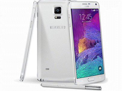 Samsung Galaxy Note 4 renove et reconditionne blanc